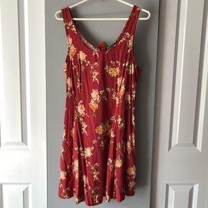 Vintage vibes red rose dress